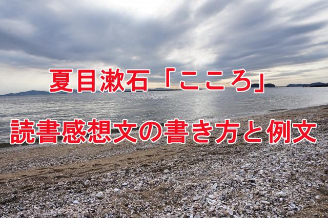 夏目漱石のこころ 読書感想文の書き方