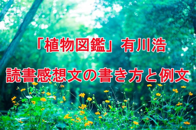 植物図鑑 読書感想文の書き方と例文